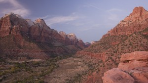 Lower Zion Valley at dusk